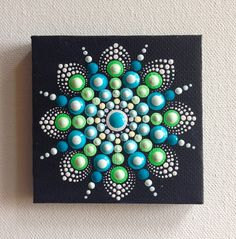 Original Small Mandala Painting on Canvas by CreateAndCherish Mandala Stones Art | Painting Rocks Ideas | Easy Paint Rock DIY