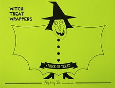 Witch Candy Covers {free Halloween printable}