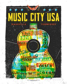 Music City USA Serigraph at AllPosters.com