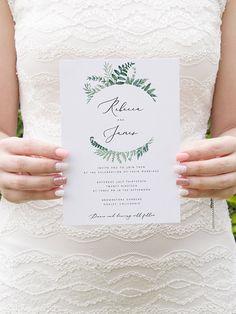 Printable Wedding Invitation Template Ferns Wedding Invite DIY