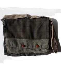 Wool Owl  Messenger Bag made from Repurposed Jackets by Tweedable, $45.00