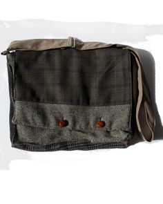 Wool Owl  Messenger Bag made from Repurposed Jackets by Tweedable, $45.00
