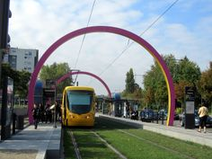 Mulhouse is a French city just north of Basel.  All the stops on route 2 have these distinctive arches. Richard's Tram Blog: September 2011