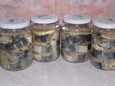 Fish Recipes, My Recipes, Parmesan Zucchini Chips, Romanian Food, Romanian Recipes, Preserves, Seafood, Mason Jars, Pickles