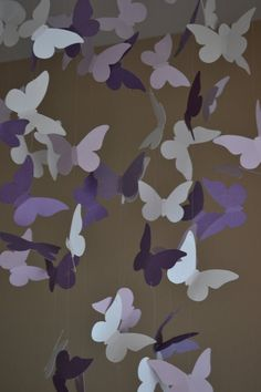 Lavender Butterfly hanging Decor.....Adorable for girls room