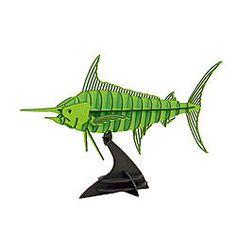 Dinosaur skeleton, and other models, DXF files.-swordfish-3d-puzzle-jpg