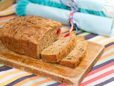 Zucchini Bread   Trisha Yearwood - For Xmas because of red cherries, green zucchini, white coconut. Makes 2 (for gifts?)