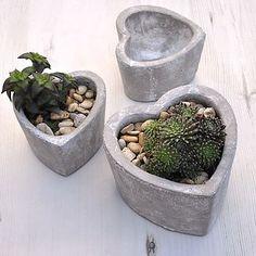 Concrete Heart Pot
