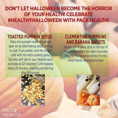 Don't let Halloween become the horror of your health! #healthyhalloween #PACKhasyourBACK #pumpkin