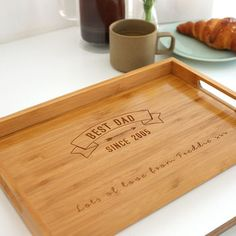 Personalised Best Dad Tray