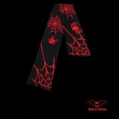 Echarpe 'Red Spiders on Webs'