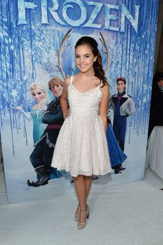 Beautiful Dress!!  Bailee Madison at the Frozen Premiere