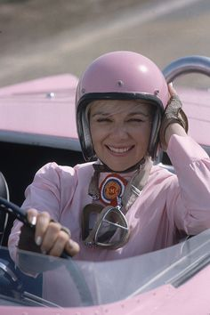The Pink Lady.  I am a big fan.  She won my SCCA class, H Production in 1963.  She even ran in the Cannonball run!