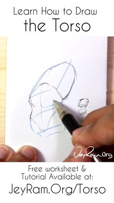 Learn how to draw the torso of the human body using the worksheet and tutorial on the site. Learning to draw people can Drawing Reference Poses, Anatomy Reference, Drawing Poses, Human Anatomy Drawing, Anatomy Art, How To Draw Anatomy, Anatomy Organs, Heart Anatomy, Drawing Lessons