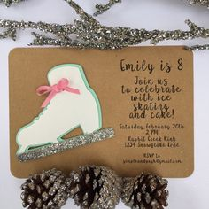 Ice Skating Invitations Birthday Party by SimpleandPosh on Etsy
