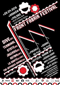 Front Fabrik Festival, the DIY music fest, will be held April 9, 2016 in Krakow. Lineup includes Jäger 90, ASTMA, and more.