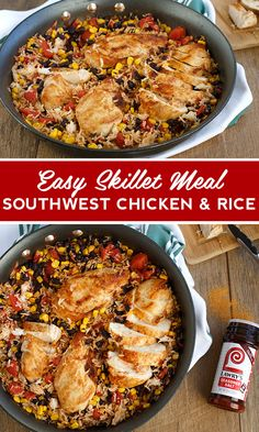 A one-pan dinner recipe that can be on the table in 30 minutes with family-pleasing ingredients like chicken, rice, corn and the taste of the Southwest. Lawry's Seasoned Salt gives this easy skillet meal a burst of savory flavor.