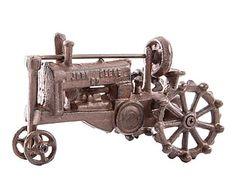 Tractor decorativo en hierro colado