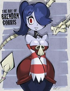 Ladies' Month comes to an end with my final entry - Squigly from Skull Girls. I really wanted to do a SG character for the last one. At first I was leaning towards Filia, as she was my favori. Skullgirls, Monster Musume Manga, Fantasma Danny, Character Art, Character Design, Adventure Time Girls, Happy Fun, Kawaii Anime, Game Art