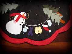 Hand Stitched Dress Me Up Frosty Wool FeltWool by JennysToleShed