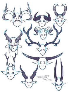 Tagged with drawing tutorial; Pointy teeth and horns tips and references Creature Concept Art, Creature Design, Drawing Expressions, Poses References, Drawing Reference Poses, Anatomy Reference, Drawing Tips, Drawing Ideas, Cartoon Art Styles