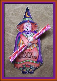 Witchie Poo Candy Holder......This little cutie can hold a Halloween Pencil, Pixie Stix or a Sucker...