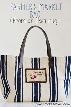 Farmers' Market Bag (From an Ikea Rug)