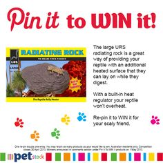 Want to WIN this large URS Radiating Heat Rock for your buddy? Pin it to WIN it!