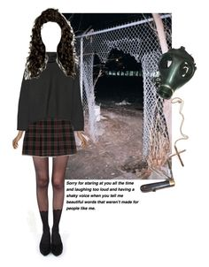 """""""she listens to weird music"""" by an-artist ❤ liked on Polyvore featuring Pretty Polly, MANGO, Marni, Retrò, Pamela Love and GAS Jeans"""