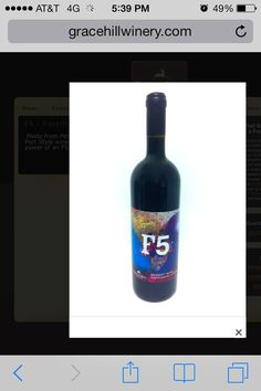 Grace Hill Winery red wine.....sweet and grapey!