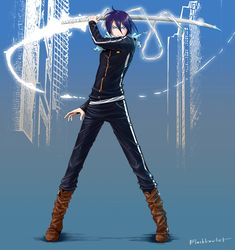 Yato by BlackLawliet on DeviantArt All Anime, Anime Guys, Manga Anime, Anime Art, Yato And Hiyori, Noragami Anime, Chibi, Yatori, Arte Sailor Moon