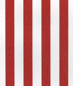 Suntex Sun Duck Crimson Red Stripe Fabric