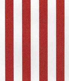 Suntex Sun Duck Crimson Red Stripe Fabric