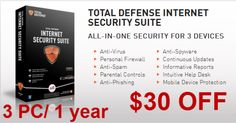 [Discount] Total Defense Internet Security Suite 3 PC 30$ OFF