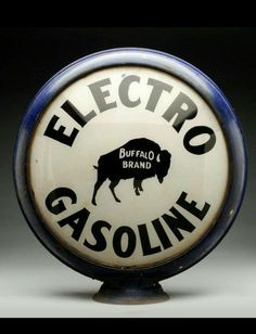 Related image Old Gas Pumps, Vintage Gas Pumps, Car Signs, Garage Signs, Buffalo Brand, Old Plates, Neon Clock, Vintage Signs, Vintage Auto