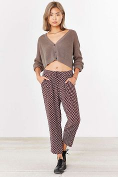 Silence + Noise Cropped Trouser - Urban Outfitters