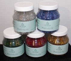Partylite Dazzle Beads Red Green Gold Clear Blue decorative beads