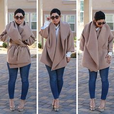 Hate the shoes but love the coat. So stylish!