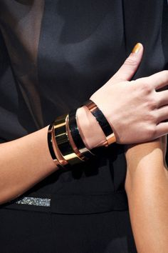 I love these minimalist cuffs,  they areso sophisticated.