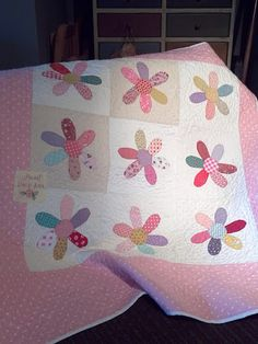 Love this sweet baby quilt designed and made by Cheri Payne.  Just not sure I want to deal w/needleturn applique...