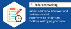 Step 8: Submit additional application documents for lender underwriting