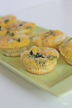 Mini muffins salati ai broccoli   A Kasa di Katia