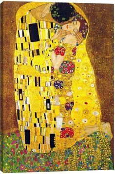 iCanvas The Kiss by Gustav Klimt Canvas Print