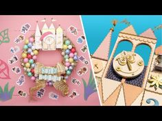"""See how to make a festive DIY wreath inspired by """"it's a small world"""" Holiday at Disneyland Resort. For more holiday magic, don't miss """"Decorating Disney"""" on. Disney Family, Disney Home, Disney Diy, Disney Crafts, Disney Nerd, Disney Stuff, Christmas Door, Disney Christmas, Little Christmas"""