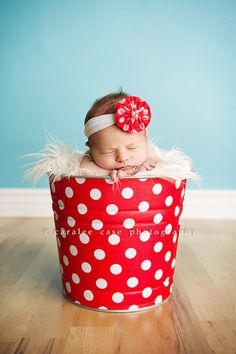 can reuse as a photo prop for the baby after the party!!    Galvanized Metal Bucket Retro Red and White Polka by BroddersTubs, $28.00