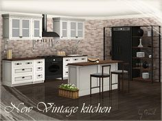 New Vintage kitchen part 2 by Gosik - Sims 3 Downloads CC Caboodle