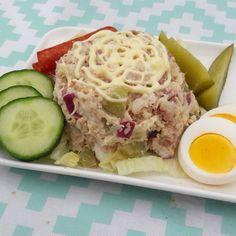 Koolhydraatarme huzarensalade – Lekker&Gezond eten – kha