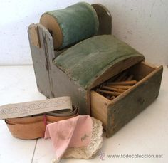 I love these antique pillows with a drawer. I would love to have one like it one day!