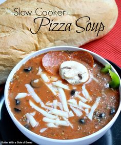 Slow Cooker Pizza Soup!