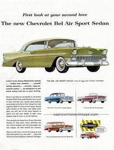 1956 chevrolet bel air car ad